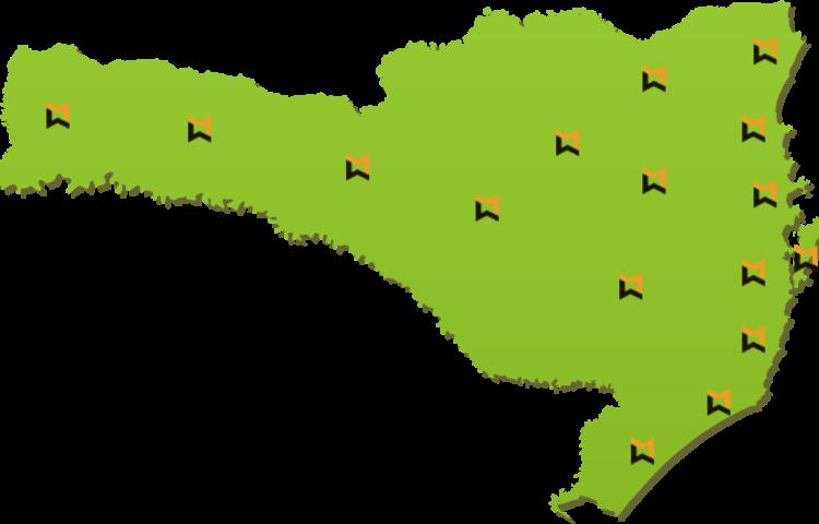 Mapa com pins